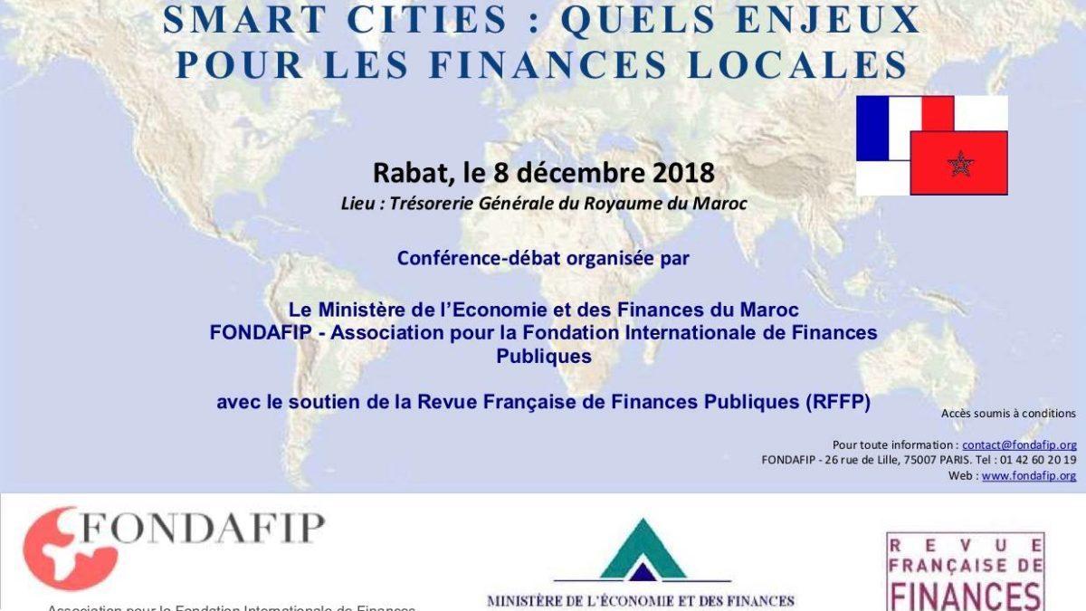 Colloque International SmartCities : Quels enjeux pour les finances locales ?